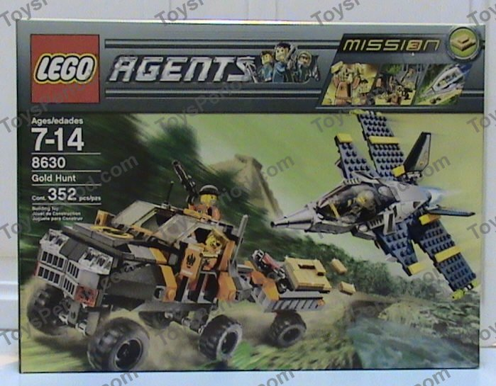 No Lego bricks Lego Agents 8630 Mission 3 Gold Hunt INSTRUCTION BOOK ONLY