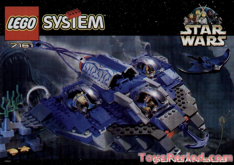 Blue Star Blade Reviews >> LEGO 7161 Gungan Sub Set Parts Inventory and Instructions ...
