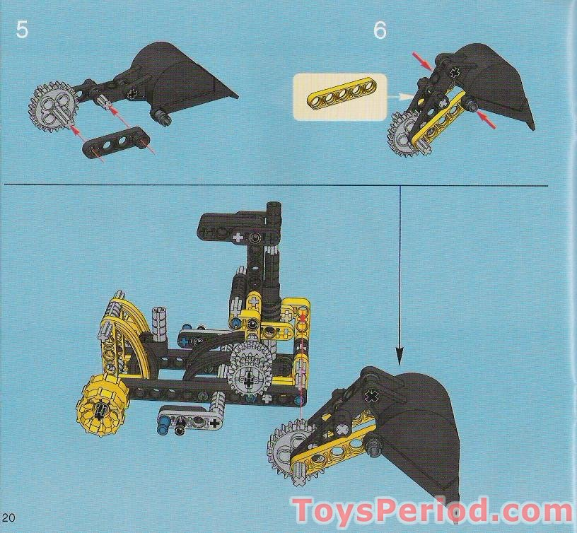 how to build a lego technic excavator instructions