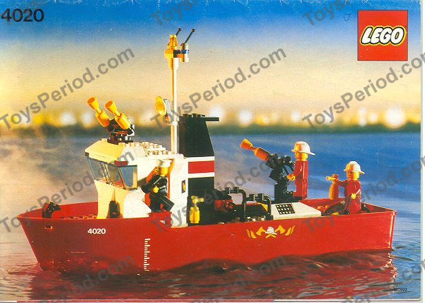 Lego 4020 Fire Fighting Boat Set Parts Inventory And Instructions