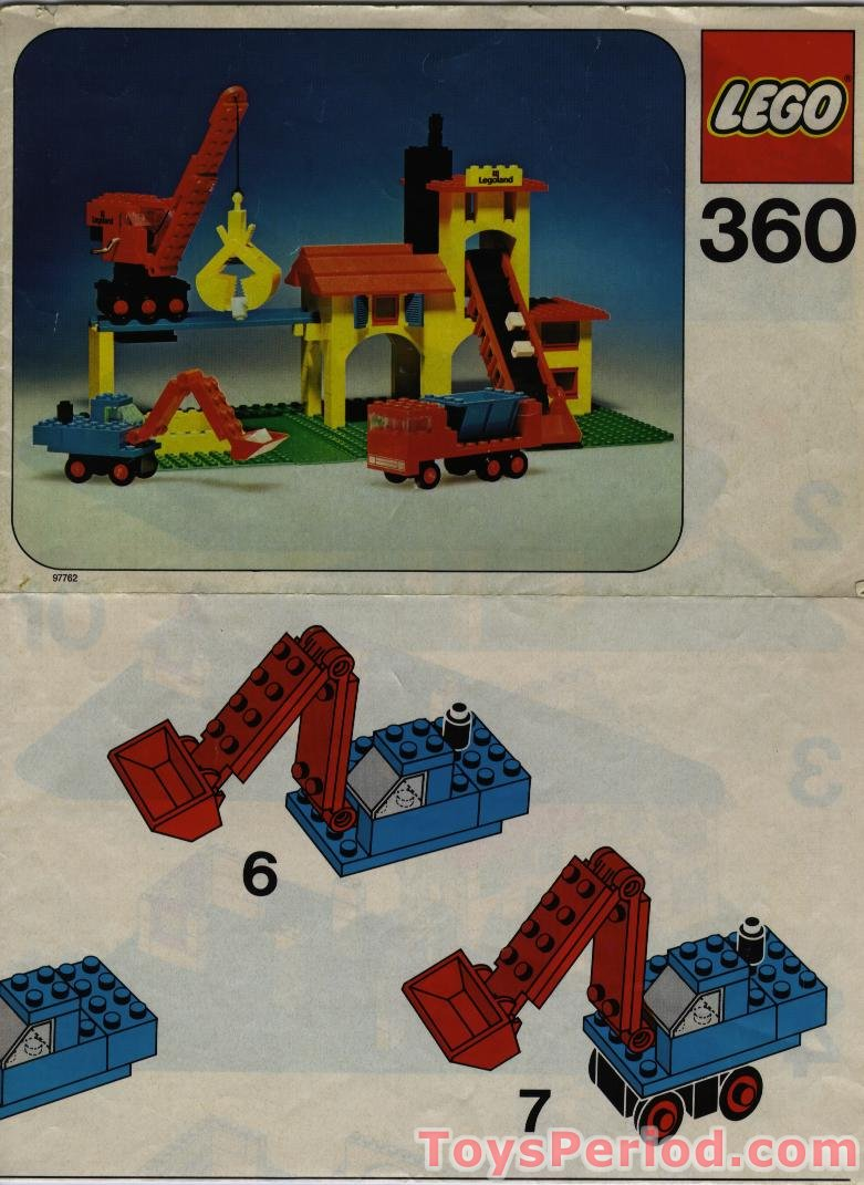 lego 360 1 gravel quarry set parts inventory and instructions lego reference guide. Black Bedroom Furniture Sets. Home Design Ideas