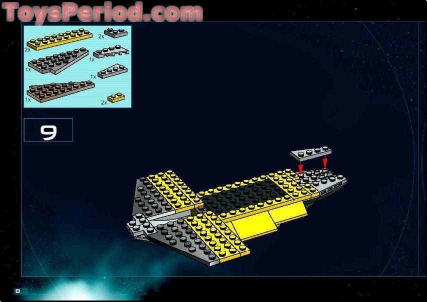 Missing Lego Brick 4286 OldDkGray x 8 Slope Brick 33º 3 x 1