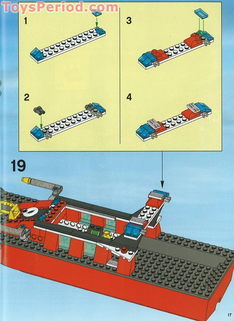 Lego 7906 Fire Boat Set Parts Inventory And Instructions