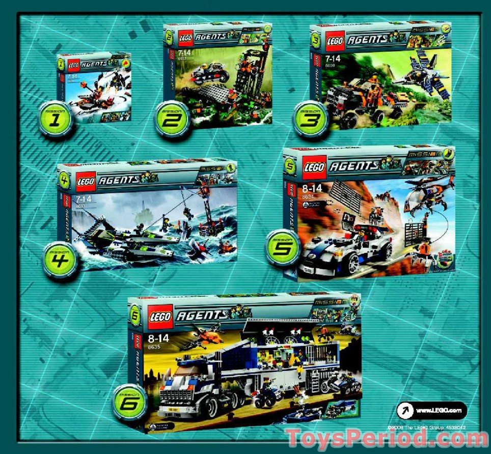 Lego 8636 Mission 7 Deep Sea Quest Set Parts Inventory