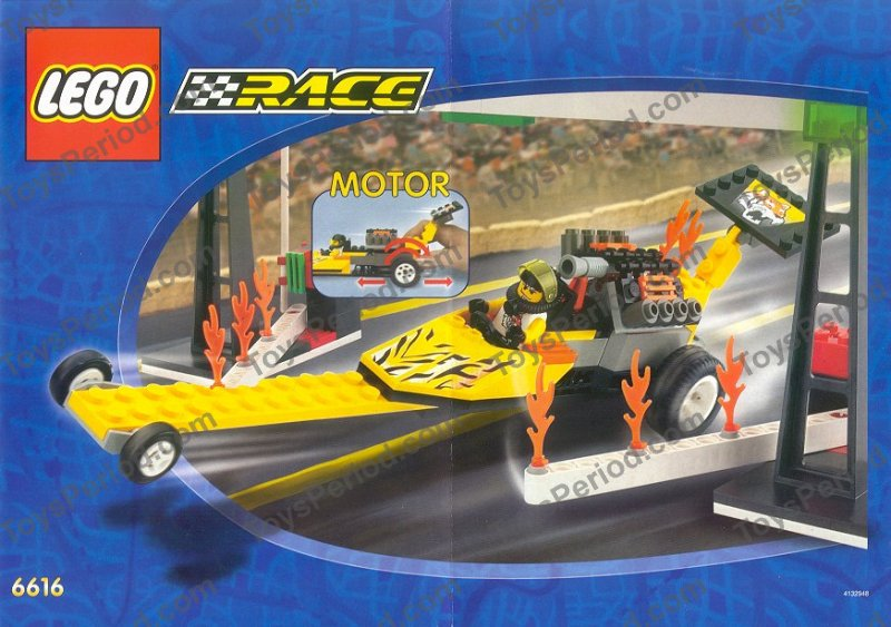 LEGO 6616 Rocket Dragster Set Parts Inventory and