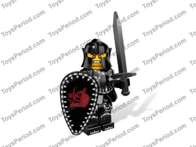 Spear with a BLACK Tassel LEGO Minifigure BROWN Weapon Pike