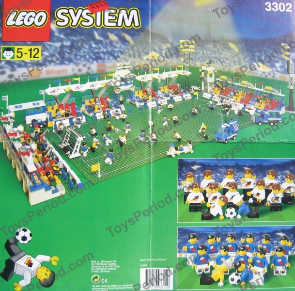 LEGO 3302 Shell Promotional Set - Soccer Field Set Parts Inventory ...