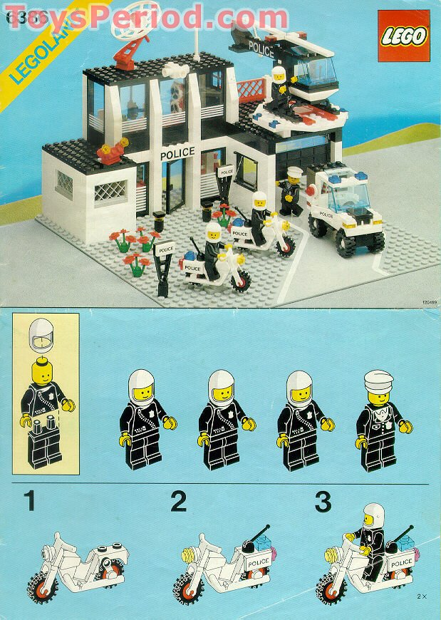 Lego 6386 Police Command Base Set Parts Inventory And