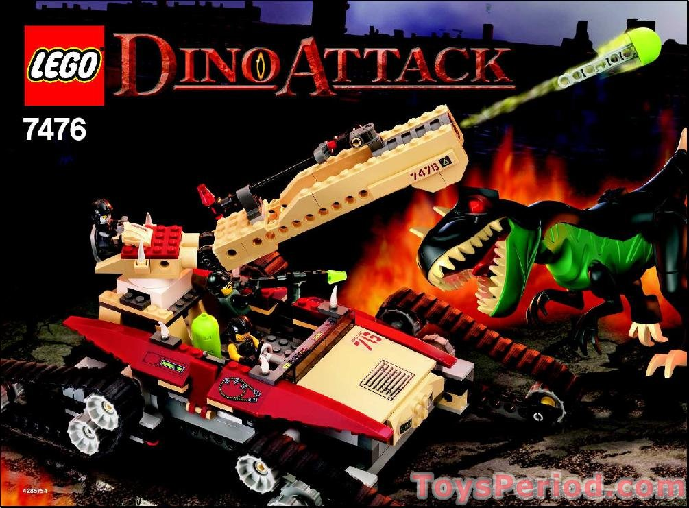 Lego 7476 Iron Predator Vs T Rex Set Parts Inventory And