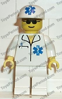 Lego ® Minifigure City Town Doctor EMT Star of Life 6666 Ambulance 3350-doc010