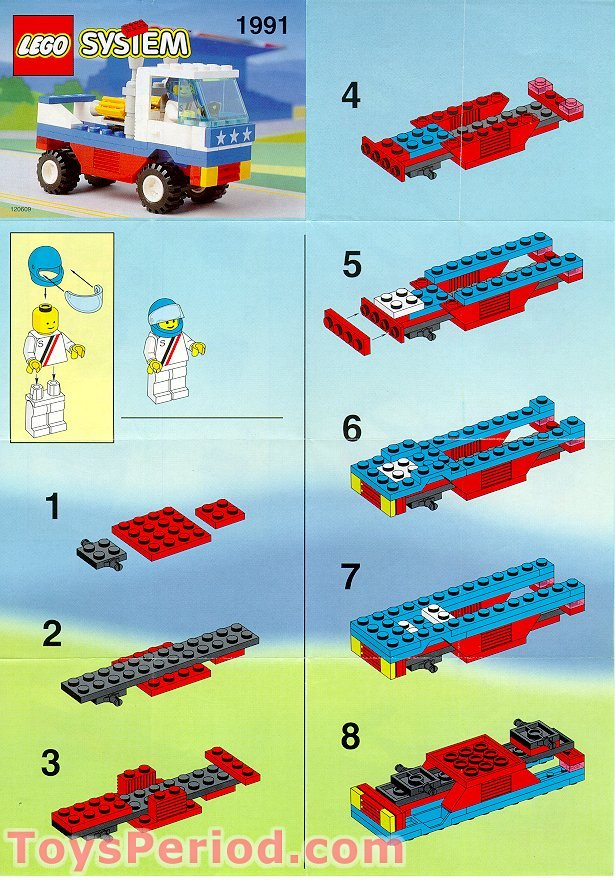 Lego 1991 Racing Pickup Set Parts Inventory And