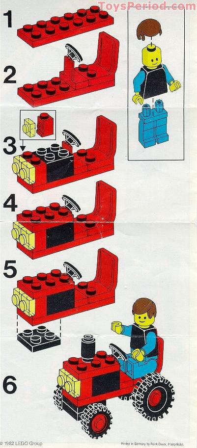трактор лего инструкция