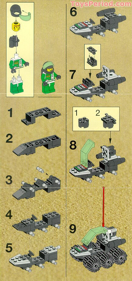 Lego 6852 Sonar Security Set Parts Inventory And
