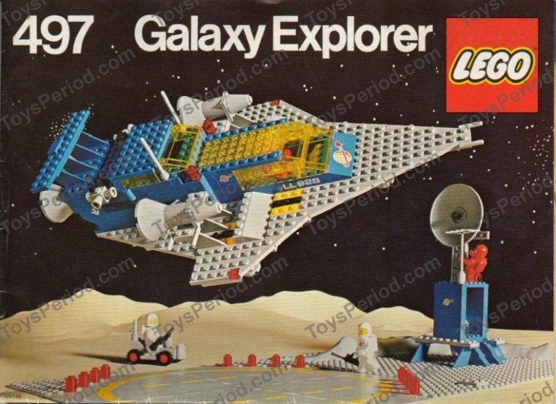 Lego 497 Galaxy Explorer Set Parts Inventory And Instructions Lego