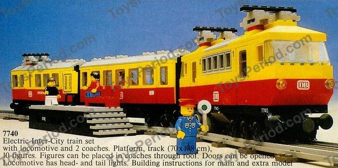 LEGO 7740 12v Electric Inter-City Passenger Train Set Set Parts ...