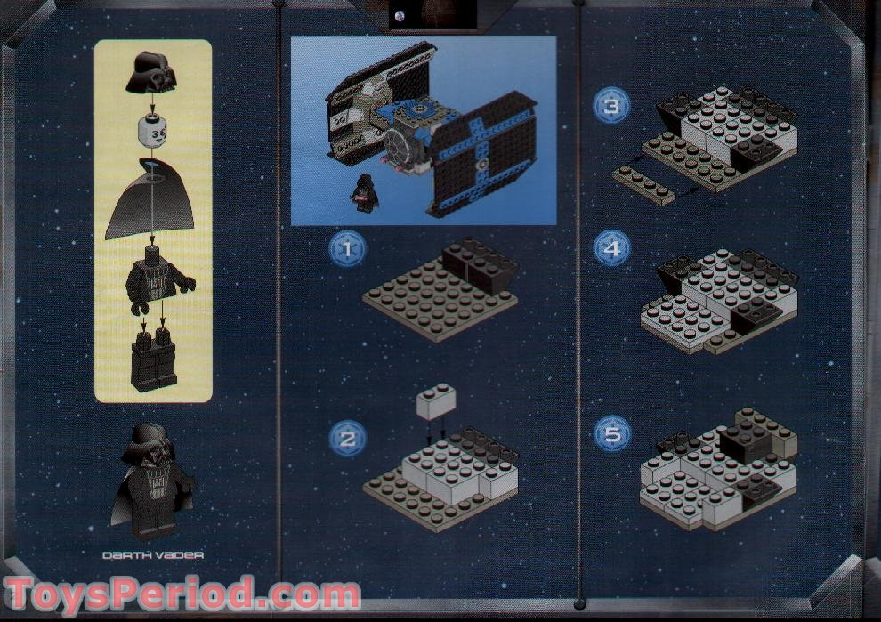 Lego 7150 Tie Fighter And Y Wing Set Parts Inventory And
