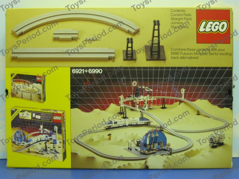 This image of lego 6921 monorail accessory track set 80s space or town