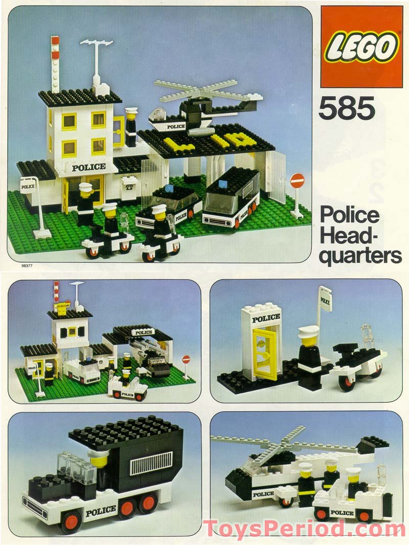 lego 585 police headquarters set parts inventory and instructions lego reference guide. Black Bedroom Furniture Sets. Home Design Ideas