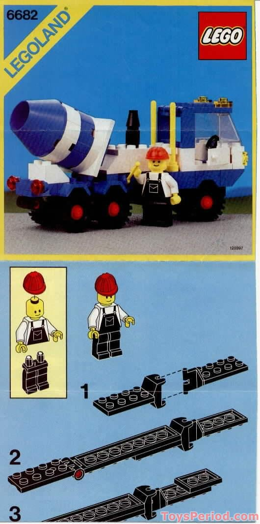 A To Z Auto Parts >> LEGO 6682 Cement Mixer Set Parts Inventory and Instructions - LEGO Reference Guide
