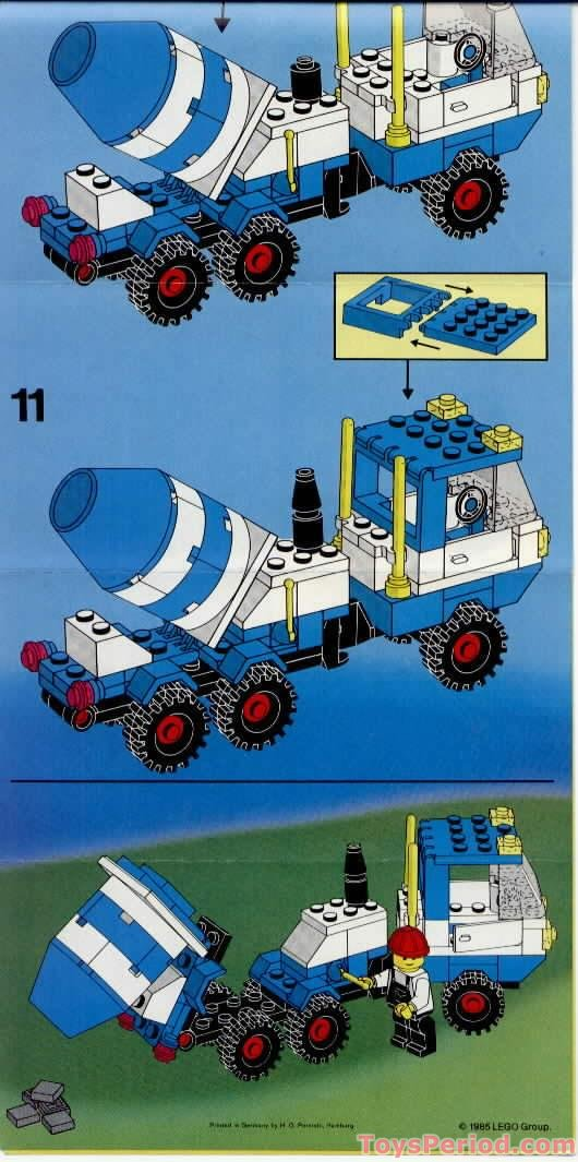 Lego 6682 Cement Mixer Set Parts Inventory And