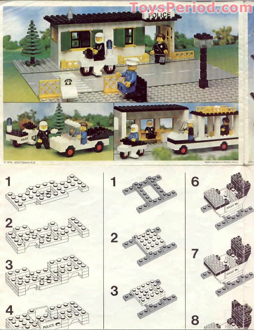 Lego 588 Police Headquarters Set Parts Inventory And