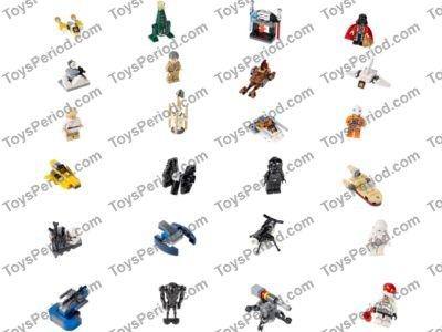 Lego 75056 Lego Star Wars Advent Calendar Set Parts Inventory And