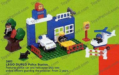 Lego 2683 Police Station Set Parts Inventory And Instructions Lego