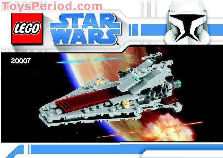 Lego 20007 Mini Republic Attack Cruiser Set Parts Inventory And