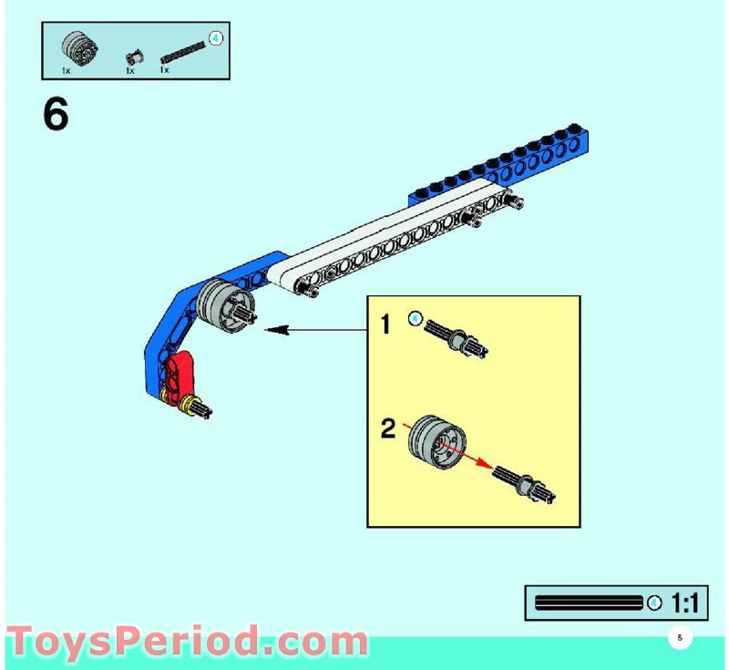5 Simple Mechanisms : Lego simple and motorized mechanisms base set