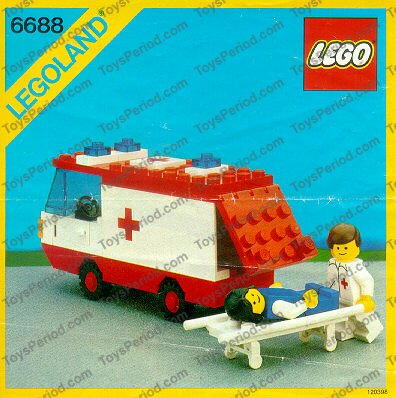 Lego 6688 Ambulance Set Parts Inventory And Instructions Lego