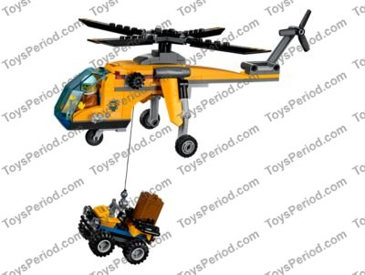 Lego 60158 Jungle Cargo Helicopter Set Parts Inventory And