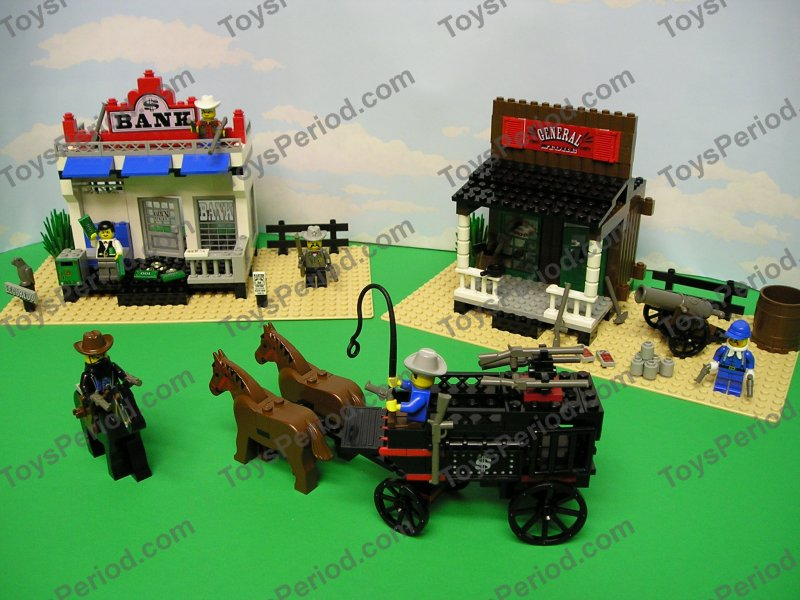 LEGO 6765 Gold City Junction Western Town Cowboys 1996 ...