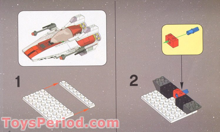 lego a wing instructions