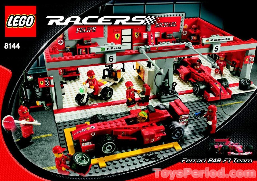 lego 8144 2 ferrari 248 f1 team raikkonen set parts. Black Bedroom Furniture Sets. Home Design Ideas
