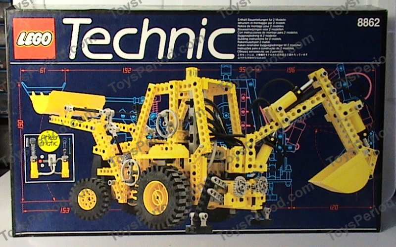 LEGO 8862 Backhoe Grader Set Parts Inventory and ...