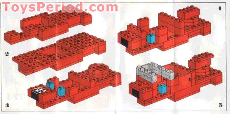 Lego 374 2 Fire Engine Set Parts Inventory And Instructions Lego
