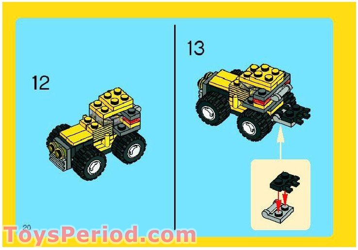 Lego 6742 Mini Jeep Set Parts Inventory And Instructions Lego