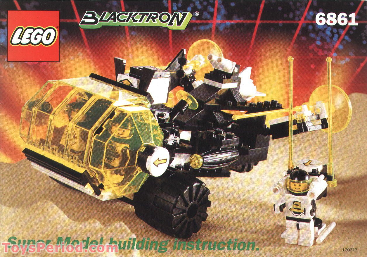 Lego 6861 2 Blacktron Super Vehicle Super Model Instructions Set