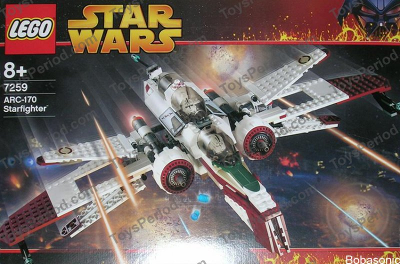 Lego 7259 Arc 170 Starfighter Set Parts Inventory And Instructions