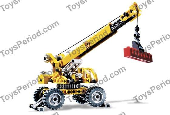 Parts Of A Rough Terrain Crane : Lego rough terrain crane set parts inventory and