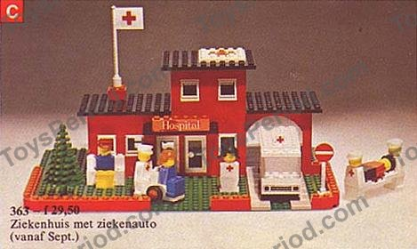 Ersatz Aufkleber//Sticker Legoland für LEGO Modell 363 Hospital with Figur 1975