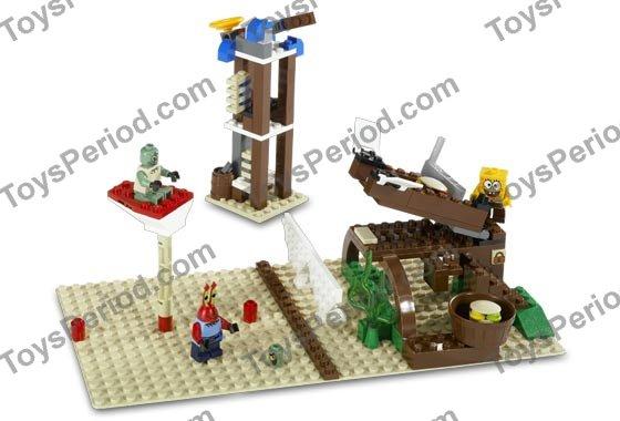 Lego 3825 Krusty Krab Set Parts Inventory And Instructions Lego