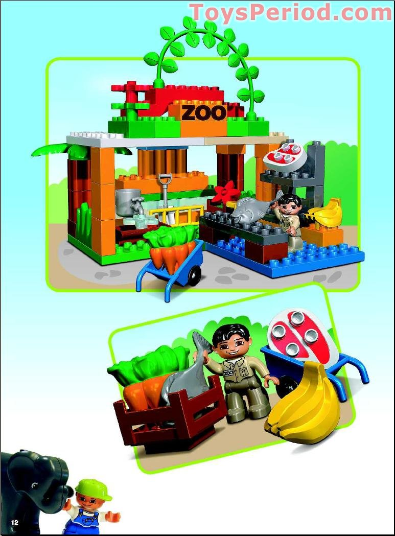 Lego 4960 Giant Zoo Set Parts Inventory And Instructions