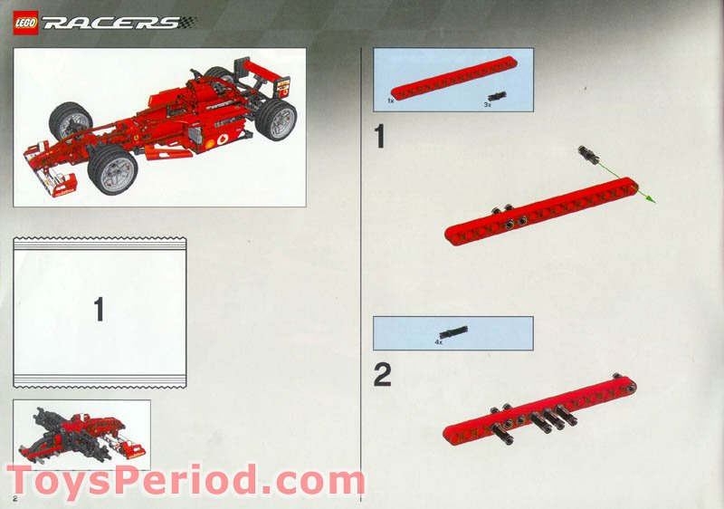 Lego 8386 Ferrari F1 Racer 1 10 Set Parts Inventory And