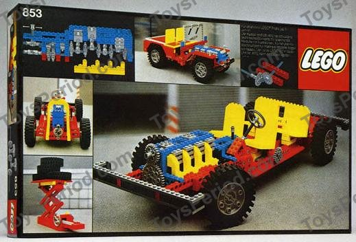 lego 853 auto chassis set parts inventory and instructions. Black Bedroom Furniture Sets. Home Design Ideas
