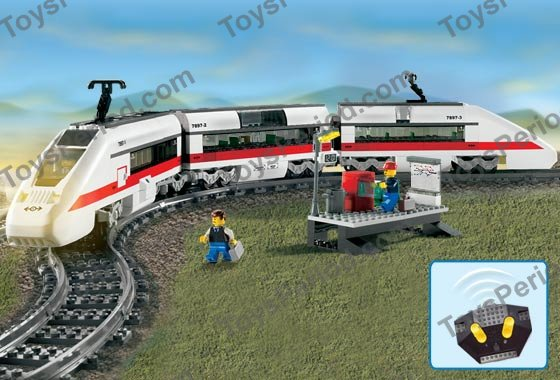 lego 7897 passenger train set parts inventory and