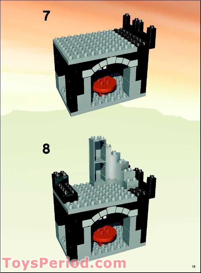 dans la ville château Pirates x1 Lego Brown Plate 8 x 8 avec grille