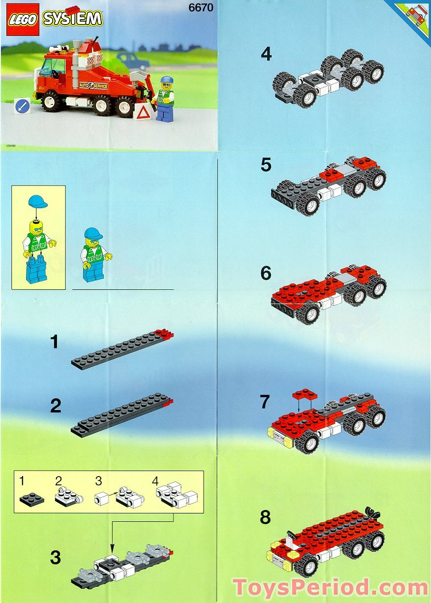 lego 6670 wrecker set parts inventory and instructions lego reference guide. Black Bedroom Furniture Sets. Home Design Ideas