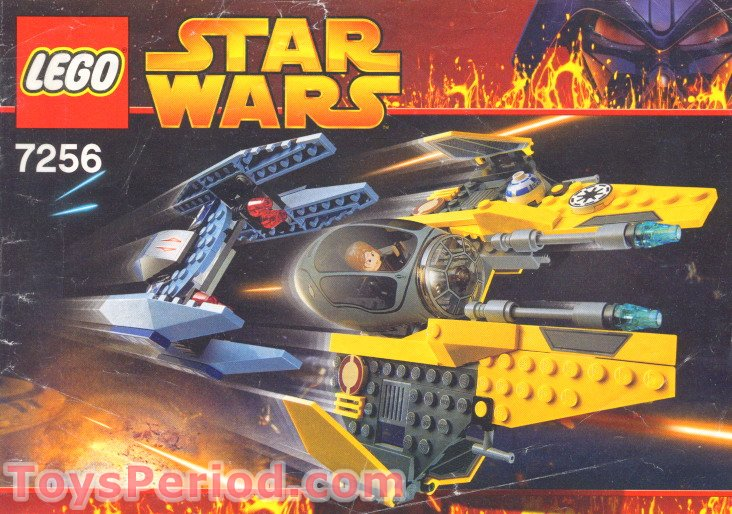 LEGO 7256 Jedi Starfighter and Vulture Droid Set Parts Inventory ...