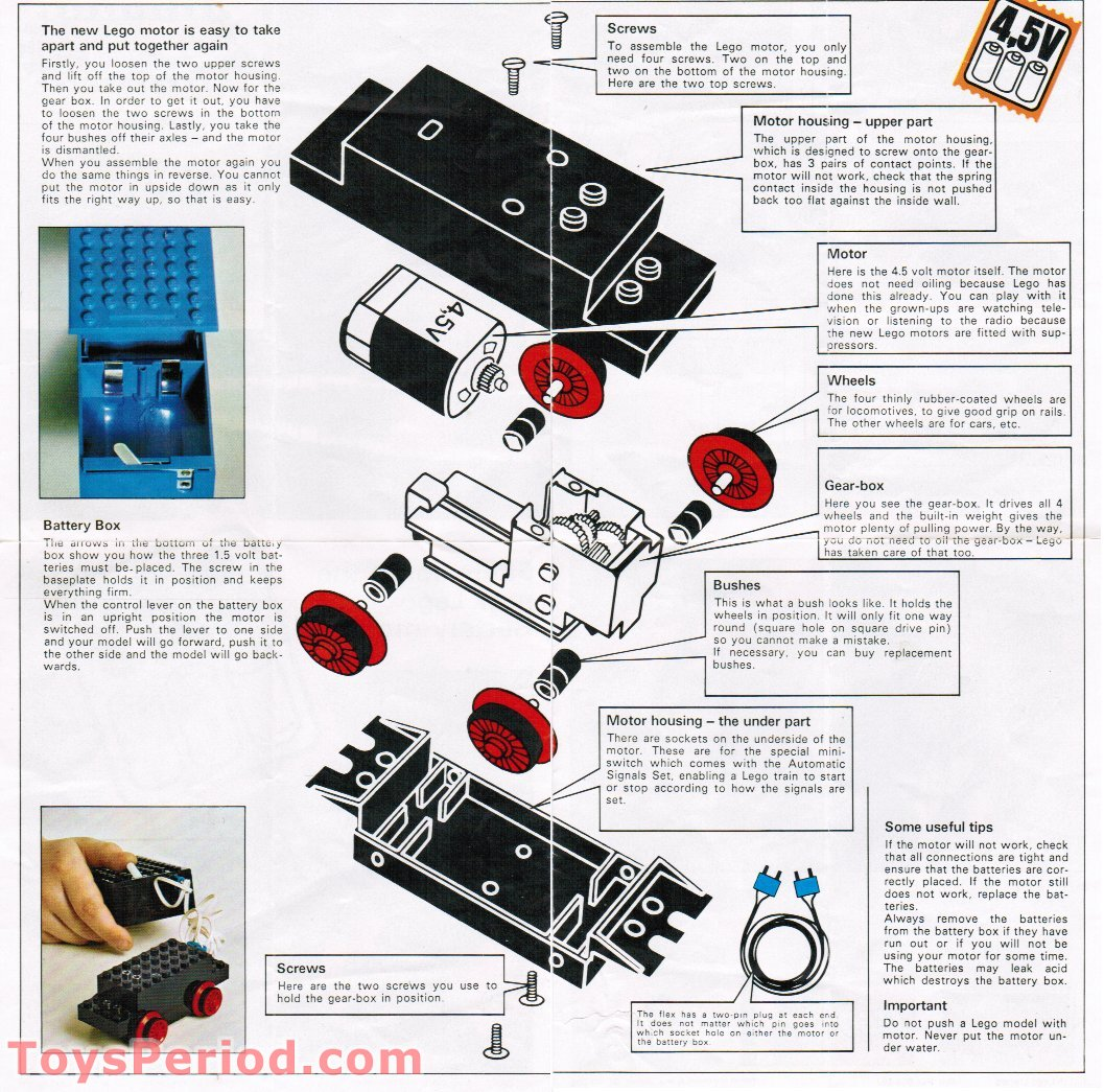 Lego 103 1 45 volt motor with battery box wires and wheels set 45 volt motor with battery box wires and wheels free instruction page 4 asfbconference2016 Images